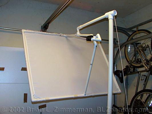 Studio n00b and a DIY light diffuser -- Flash and Studio