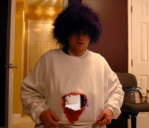 Gaping hole Halloween costume (by evanbooth)