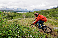 Self Portrait MTB -Glacier National Park 1 (by Reuben Krabbe)