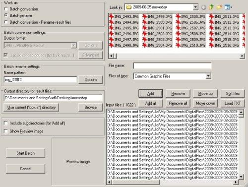ifranview renam settings