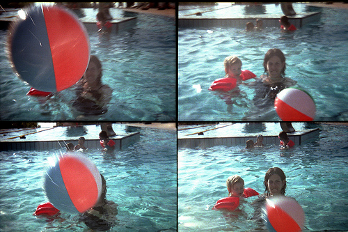 My Daughter Playing With A Pool Ball