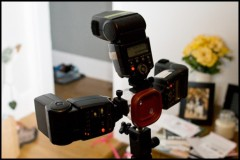 A trio - DIY multi Flash Strobe Mount