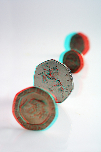 Row of Coins in 3D (by DCity19)