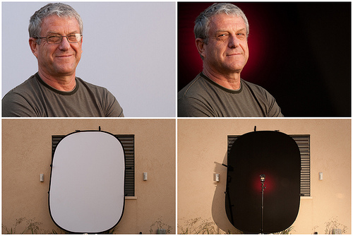 Portraits & Setups Using Impact's Collapsible backdrop (by udijw)