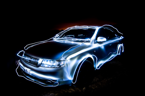 Make Amazing Sparkles Car Light Paintings