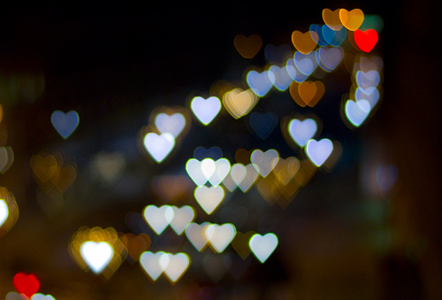 heart shape Bokeh 01