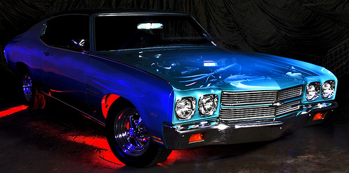 American Chevy Light Painted As Ghost Car