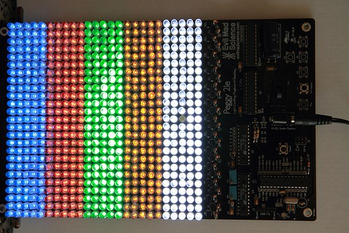 Light Painting using an Arduino-based PegBoard