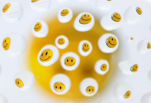 water and gelatine smiley