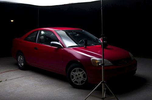 Shoot Big Cars With A DIY Huge Scrim