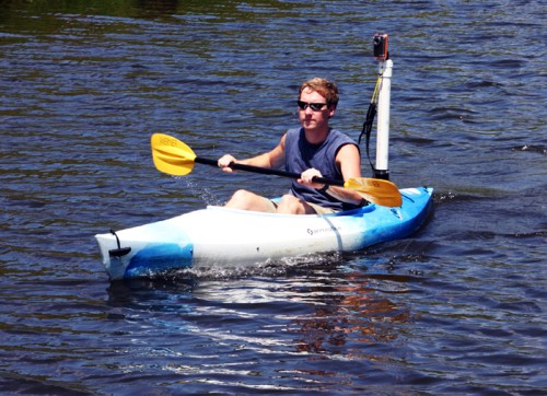 Use A Toilet Flange For Elevated Video While Kayaking