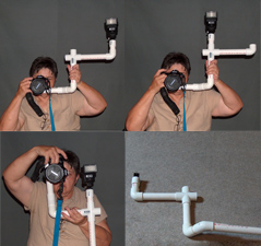 Seperate Your Flash From Your Camera With A PVC Bracket