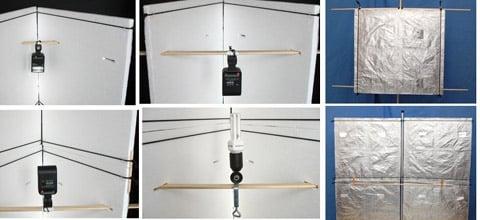 DIY softbox, reflector and lightbox