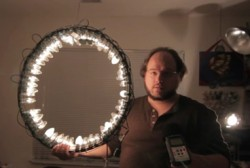 Make a $24 Ring Light From Christmas Lights