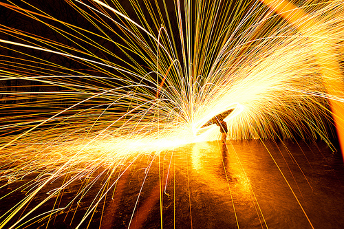 Steel Wool Light Painting Can Be Bad For Your Lens DIY Photography