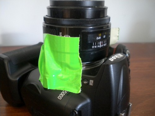 Nikolta - A Minolta / Nikon Duct Tape & A Coffee Mixer Hybrid