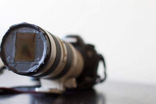 Canon 5D Mark III with 70-200 mm f/2.8 + 2x extender