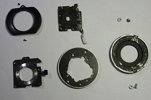 DIY Pentax-110 adapter parts