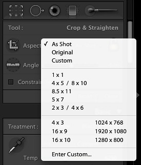 Step 4 – Crop & Straighten