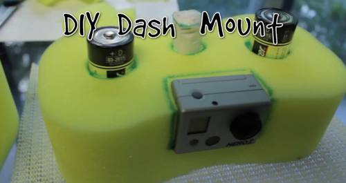 Make A Dashboard Camera Mount Using A Peanut Sponge