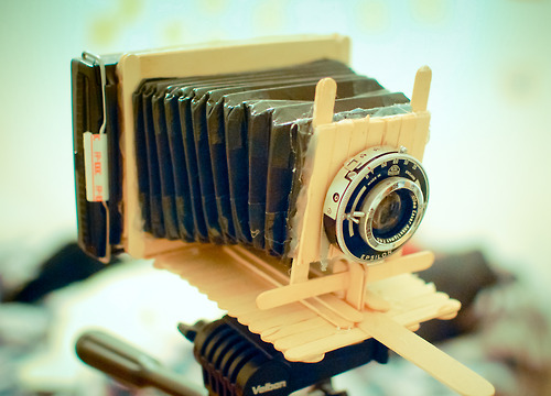 Polaroid Camera Made From Popsicle Sticks