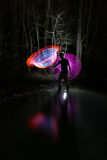 EL wire light painting