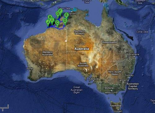 image of the map of where we were visiting