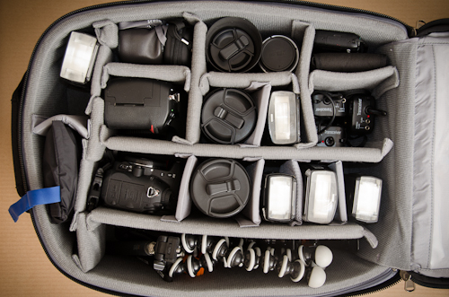 Think Tank Airport International V 2.0 Camera Bag Review - storage space
