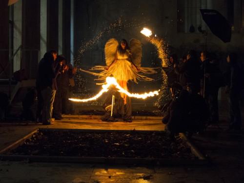 A 50 Assistants Crazy Pyrotechnics Shoot