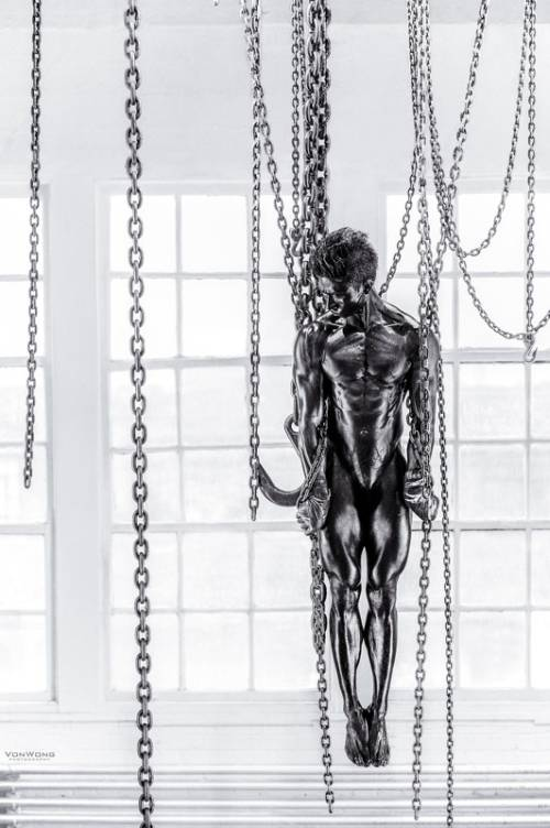 Shooting Suspended Nude Hang From Chains (NSFW)