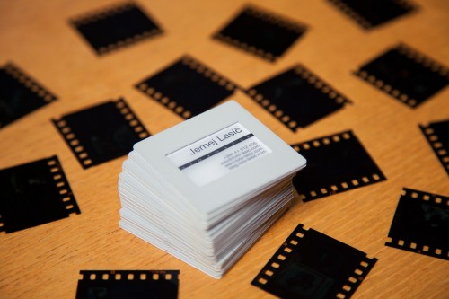 Making 35mm Slide Like Photography Business Cards