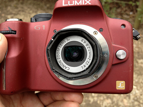 IXY-Degital camera Lens on LUMIX G1