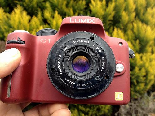 OLYMPUS C-AF QUARTZ DATE Lens on LUMIX G1
