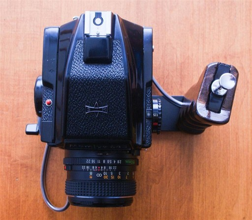Shutter Grip for Your Medium Format Camera
