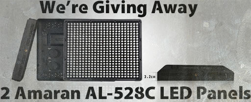 Win 2 Amaran AL-528C LED Panels From Aputure