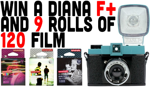 Win A Dream Lomography Package - A Diana F+ And 9 Rolls Of 120 Film