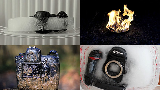 Nikon D3s Goes Through Swamp, Shower, Car Drop, Ice Block And Fire. Survives To Tell