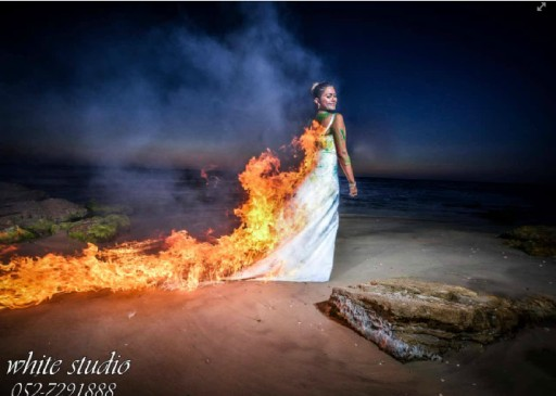 Is The Picture Worth The Risk? A Bride Set On Fire For Trash The Dress