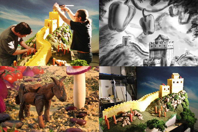 Incredible Landscapes Made With Food, Household Items And Ice