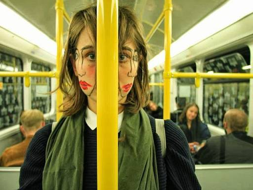 Portraits Of A Girl Taken Sideways With An Extra Face