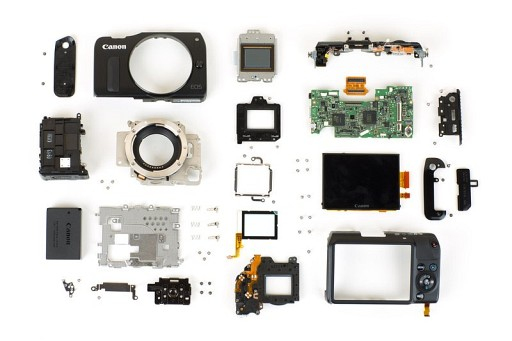How To Tear Down A Canon EOS-M  To Its Atomic Components