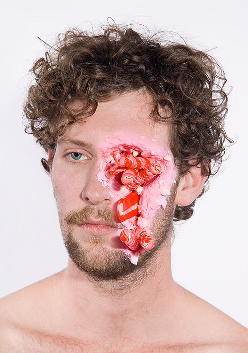 Portraits Of Severe Face Injuries Made With Cake, Candy & Ice Cream