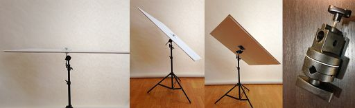 A Clever Way To Hold A DIY Foam Board Reflector/Flag