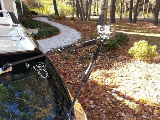 A Clever Way Of Mounting A GoPro To A Car