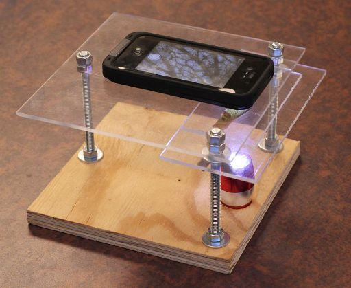 Build A $10 Smartphone To Microscope Stand