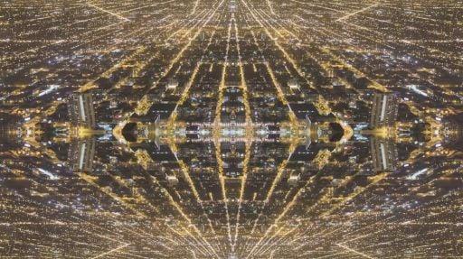 Mirror City Converts A Cityscape Into A Hypnotizing Kaleidoscopic Show