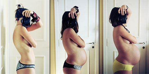 This Photo A Month Selfie Project Goes All The Way To Birth