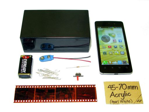 How To Make a Home Brew Smartphone Film Scanner