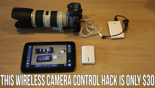 This Wireless Camera Control And LiveView DIY Hack Is Only $30