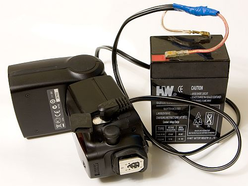 More Power To Your Flash - External SLA Battery Flash Mod